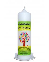 Taufkerze Baum Maximilian (druck)